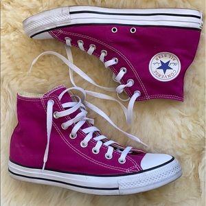 Converse Chuck Taylor Magenta Pink High Tops
